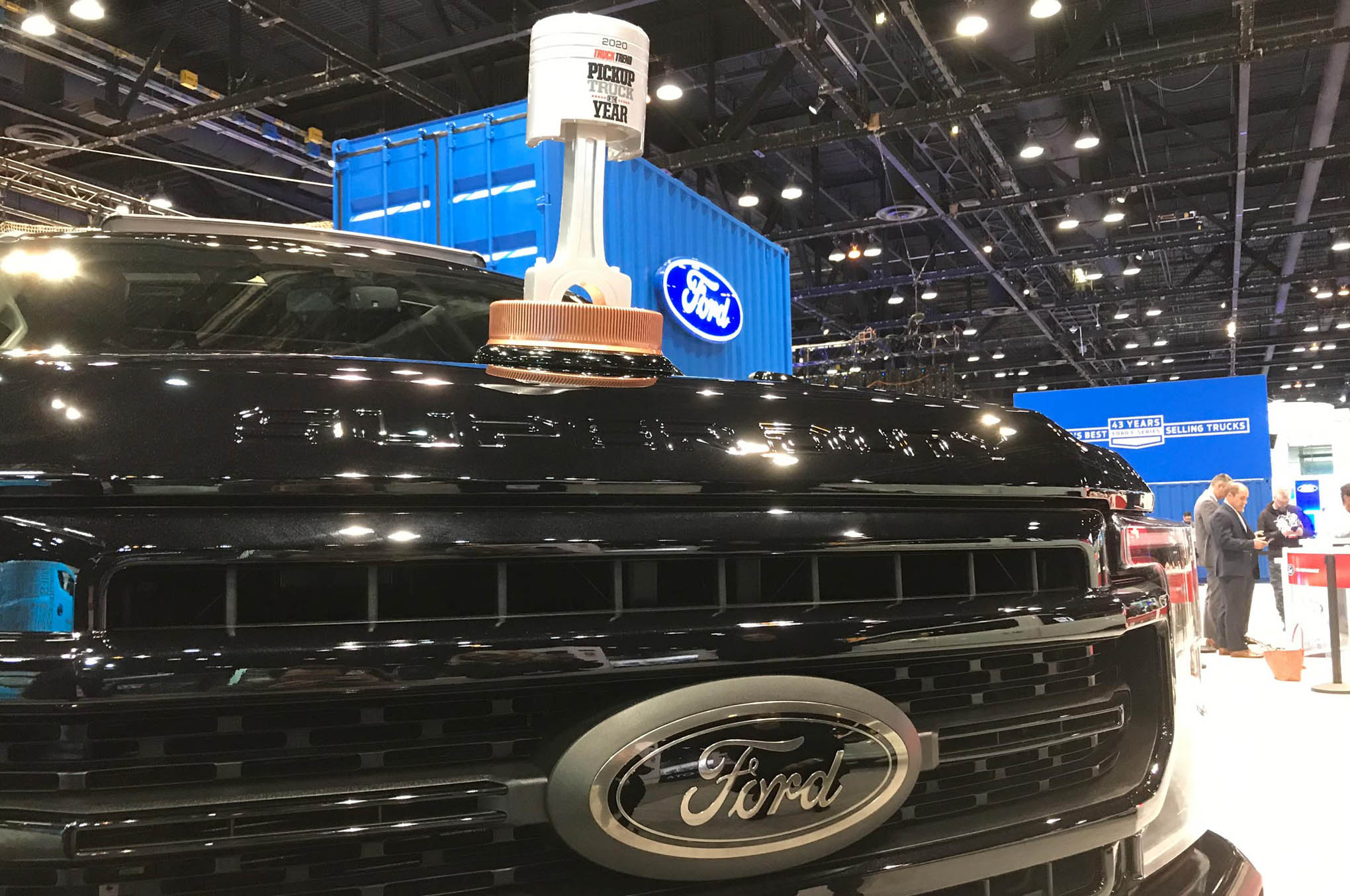 Handing Off Our Pickup Truck of the Year Trophy to the Ford Super Duty - Chicago Auto Show
