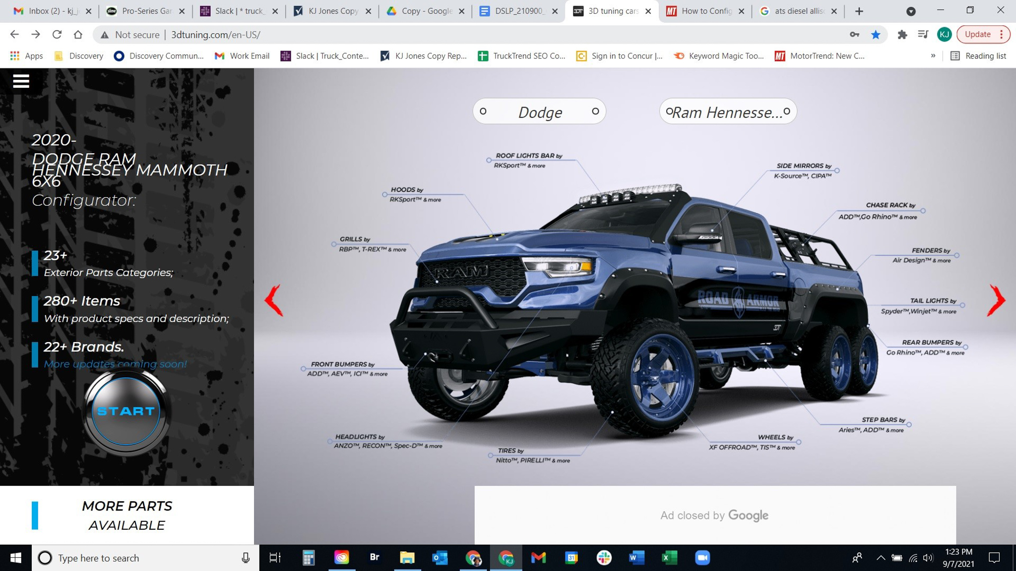 Here's How We Configured a Custom Hennessey Mammoth 6x6 at 3D Tuning