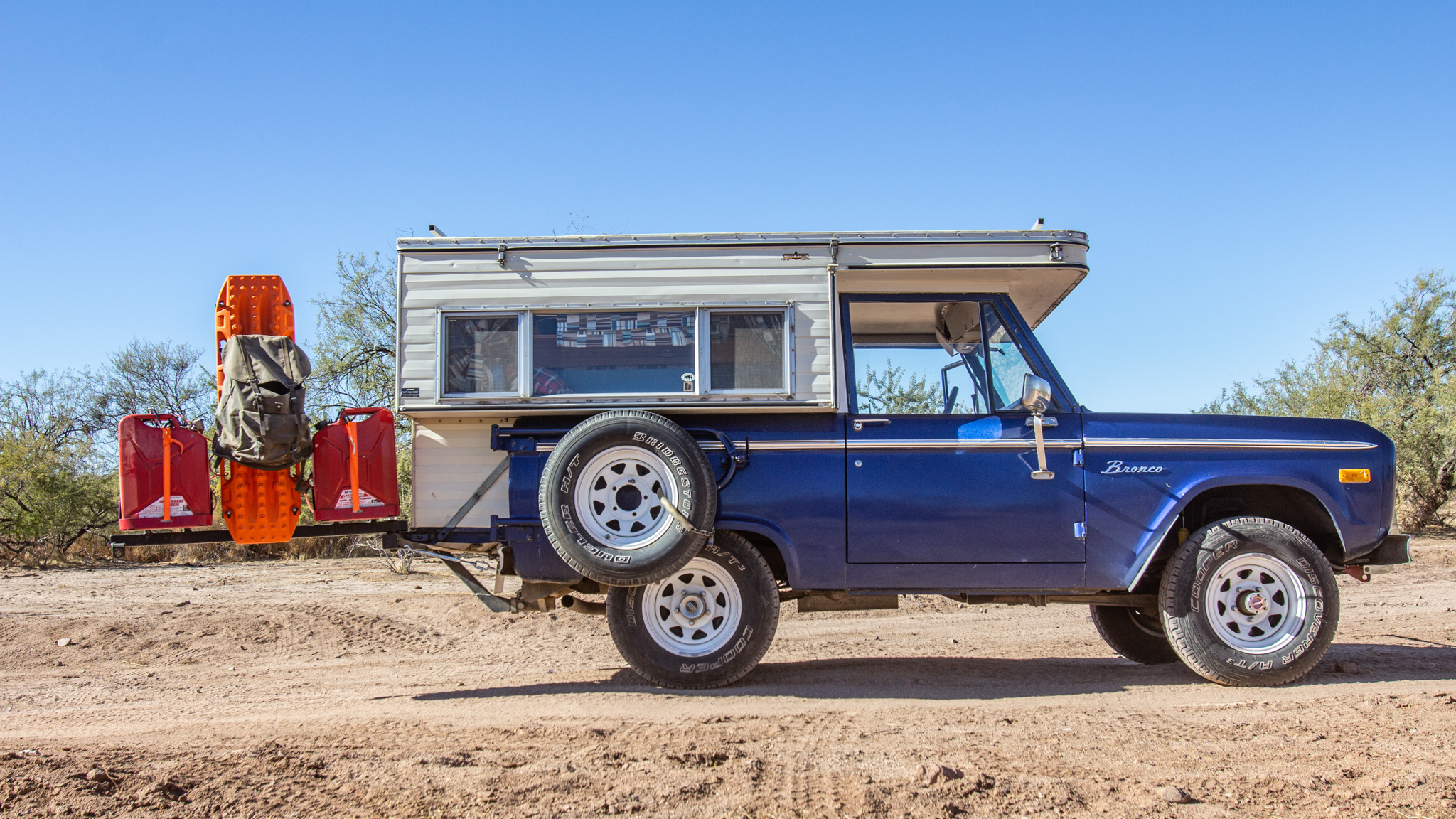 1976 Ford Bronco With a Four Wheel Campers Pop-Up on Four Wheeler's 2020 Overland Adventure
